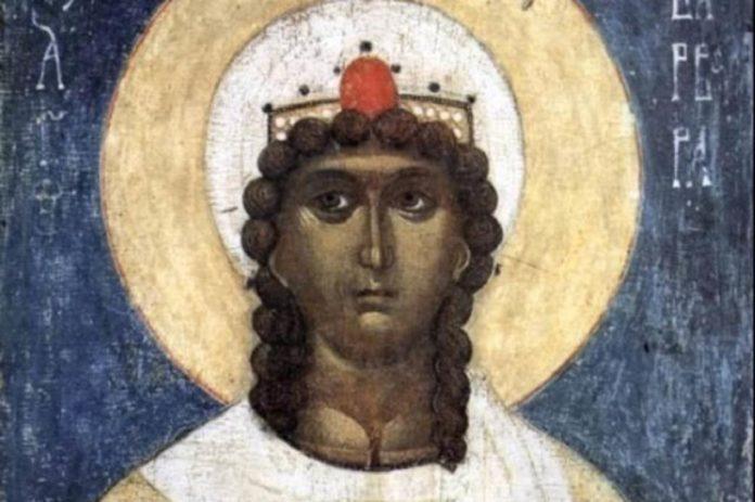 Darstellung der heiligen Barbara