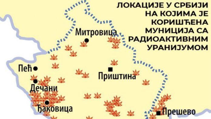 Karte der Bombardierungen