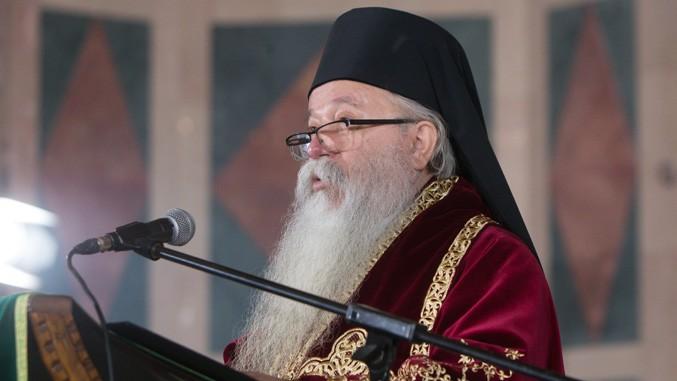 Metropolit Chrysostomus bei öffentlichem Auftritt