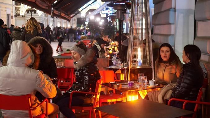 Cafe im Winter