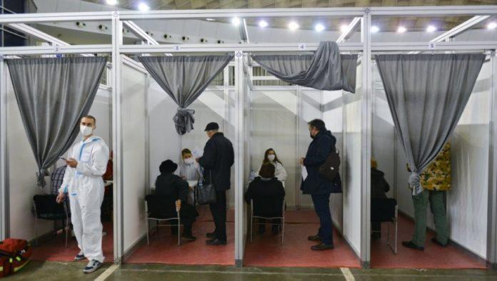 Impfungen auf dem Messegelände von Belgrad