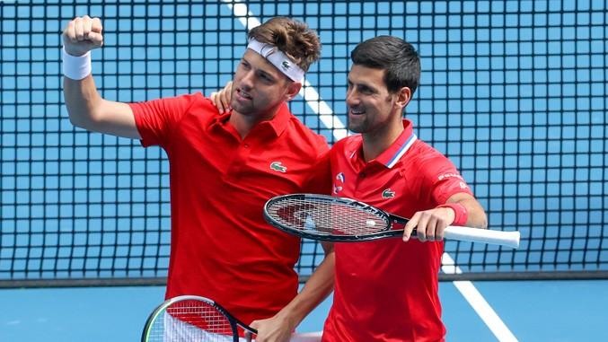 Djokovic und Krajinovic