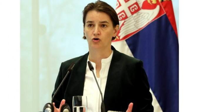 Ana Brnabic bei Pressekonferenz