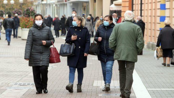 Fußgänger in Banja Luka