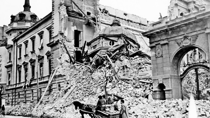 Zerstörung in Belgrad