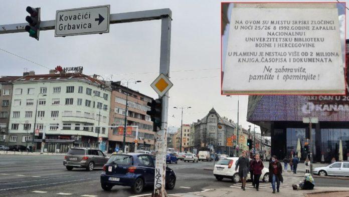 stadtansicht-sarevo-provokante-plakette