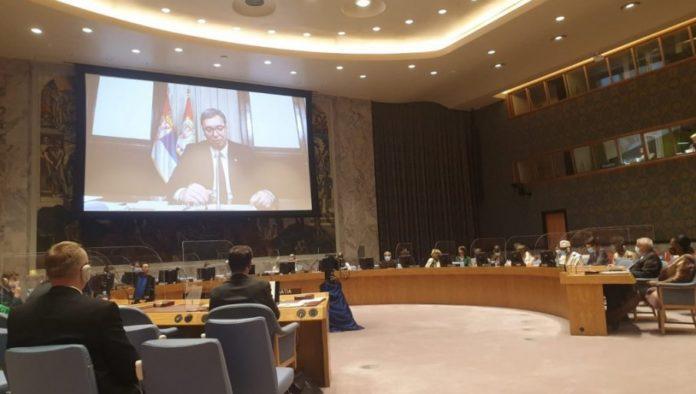 Aleksandar Vucic spricht vor UN-Sicherheitsrat