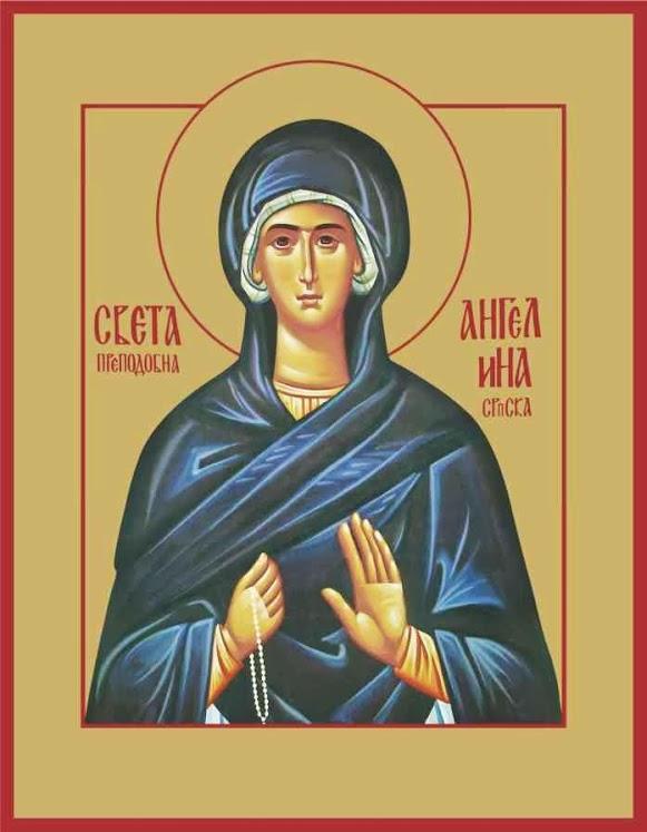 Die ehrwürdige Mutter Angelina von Serbien