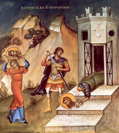 Die Enhthauptung von Johannes dem Täufer