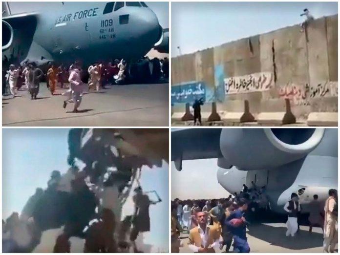 Dramatsiche Szenen am Flughafen Kabul