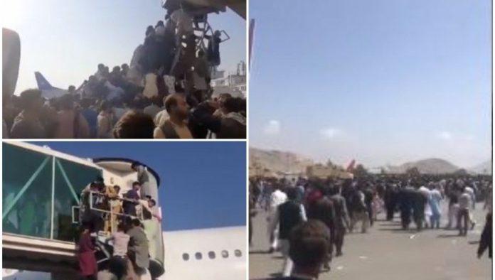 Tumultartige Szenen am Flughafen Kabul