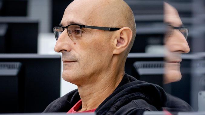 Sali Mustafa auf der Anklagebank