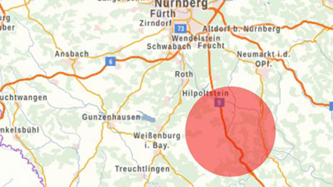der entführte serbsiche Reisebus befand sich auf der A9 Richtung München