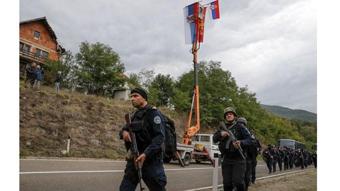 Albin Kurtis Spezaileinheiten in Jarinje und Brnjak