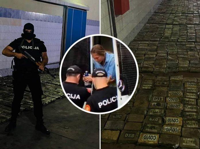 Drogenfund in Montenegro und Verhaftung der Verdächtigen