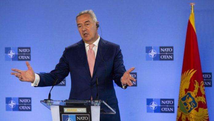 Der Prüsdent Montenegros bei einem Treffen der NATO