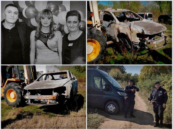 Die Polizei fand das ausgebrannte Fahrzeug und die Leichen