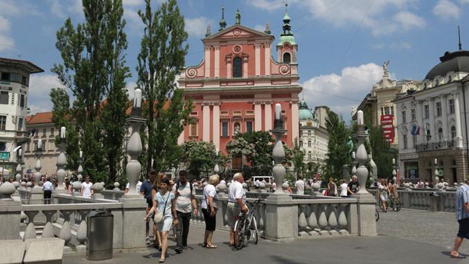 Zentrum von Ljubljana